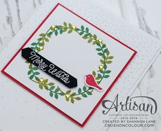 Crush On Colour: More Thoughtful Branches! Christmas Cards To Make, Xmas Cards, Handmade Christmas, Christmas Diy, Stamping Up, Christmas Inspiration, Greeting Cards Handmade, Homemade Cards, Stampin Up Cards