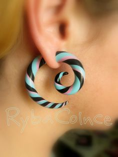 Fake gauges/Gauge earrings/Tentacle plug/tentacle by RybaColnce, $16.00