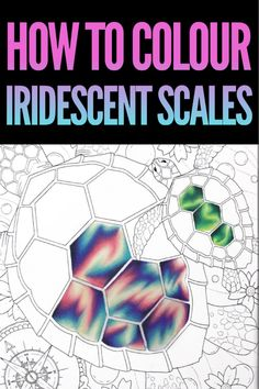 How to Color Iridescent Scales in coloured pencil How to colour iridescent scales in colored pencils - Prismacolor Tutorial Coloring Book Art, Coloring Tips, Colouring In, Adult Coloring, Colored Pencil Tutorial, Colored Pencil Techniques, Prismacolor, Copics, Blending Colored Pencils