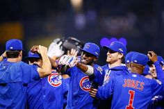 Dexter Fowler and the Cubs win the NL WIld Card game at PIT, OCt 2015