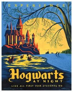 Hogwarts and Quidditch world cup travel posters by Caroline Hadilaksono for the upcoming Harry Potter show at Gallery Nucleus.