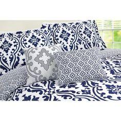 Better Homes and Gardens Indigo Scrollwork 5-Piece Bedding Comforter Set Image 4 of 4