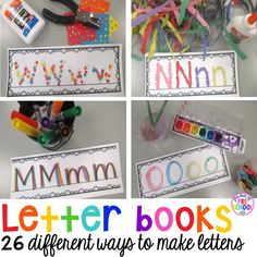 Writing letters - 26 different ways to write letters. Make letter writing fun for your preschool, pre-k, & kinder students.