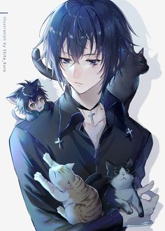 Anime Cat, Chica Anime Manga, Anime Angel, Oc Manga, Manga Boy, Anime Boy Hair, Cute Anime Boy, Fanarts Anime, Anime Characters