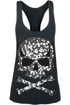 Dot Skull vest top