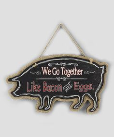 Look what I found on #zulily! Burlap Pig Wall Sign #zulilyfinds