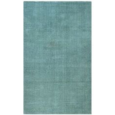 A unique two-tone color effect highlights this hand-tufted Pulse rug. This wool area rug features a loop cut technique and shades of aqua blue and light aqua.