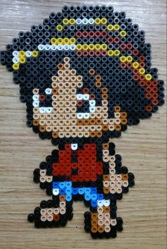 Luffy One Piece hama perler beads by Sonja Ahacarne