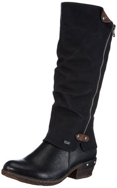 b49efbbc87e48 Rieker Womens Boots Black/Chestnut Size 40 EU * You can find out more  details