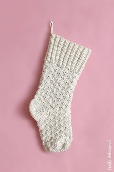 Crochet your own beautiful Christmas stockings this year with this free crochet stocking pattern. Follow along to get started on your own!
