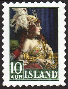 In 1921, the Postmaster of Iceland insisted upon putting his mistress on the new 10-aur stamp. What could have been a career-ending misstep was turned into a triumph when the stamp proved wildly popular, inspiring a surge in letter-writing and raising postal revenue to new heights.
