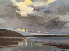 Daymer Bay, Winter Evening, Cornwall, Preselected for NEAC Annual Open Exhibition 2017, Mall Galleries, London.