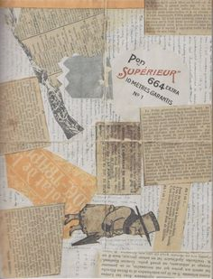 André Breton, Lettre-Collage à Jacques Vaché [Collage-Letter to Jacques Vaché], Paris, janvier 1919; Collection Sylvio Perlstein, Anvers.