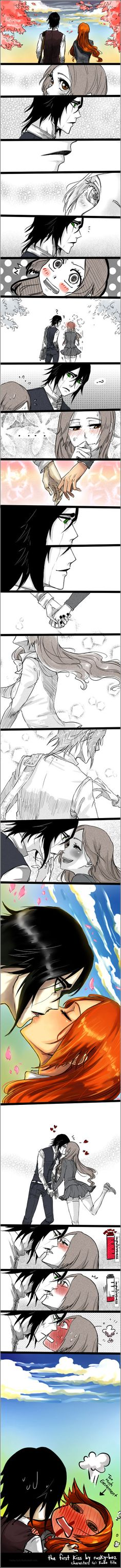 Ulquiorra and Orihime kiss - Bleach