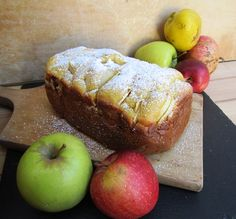 Apple pie with the bread machine – Fast and fantastic! – The Breath of Zephyr - Chef HELEN LOG Beautiful Fruits, Easy Bread, Zucchini Bread, Apple Pie, Apple Bread, Bread Recipes, Banana Bread, Homemade, Ethnic Recipes
