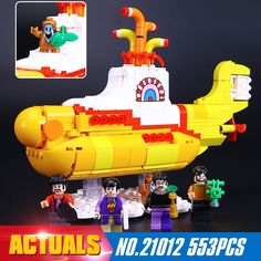 36.00$  Watch more here - http://aitgf.worlditems.win/all/product.php?id=32794303314 - 2017 New Lepin 21012 553Pcs The beatles yellow submarine Building Blcoks Bricks Toys 21306 Funny gift to