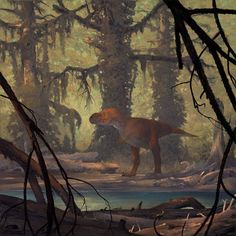 "Douglas Henderson ""Tyrannosaur and Metasequoia"""
