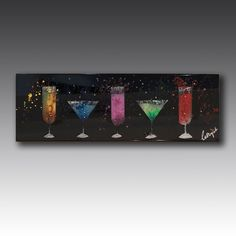 Handcrafted from glass and embellished with Swarovski crystals, this wall art shows off appealing cocktails Contemporary Games, Luxury Gifts For Men, Game Room, Bobs, Swarovski Crystals, Birthdays, Cocktails, Valentines, Neon