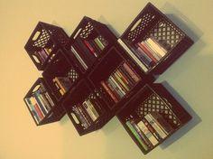 19 Ideas for milk crate shelves diy storage ideas Crates On Wall, Milk Crate Shelves, Milk Crate Storage, Crate Bookshelf, Wood Crates, Diy Storage, Plastic Storage, Storage Ideas, Storage Crates