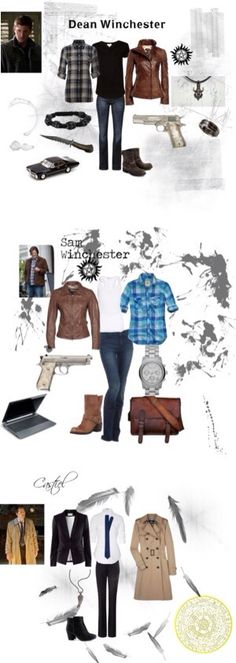 Supernatural - Sam, Dean and Castiel female outfit                                                                                                                                                                                 More