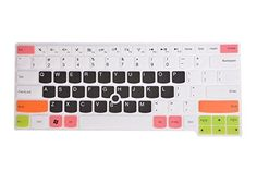 Leze - Ultra Thin Soft Keyboard Skin Cover for Lenovo Thinkpad E430 E430C E435 E335 E450C E460 E465 S430 L330 L450 T430U T430 T430i T430S T450S T530 S3 Semi - White Black
