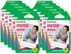 FujiFilm Instax Mini Picture Format Fuji Instant Film Photo 100 Shots 10 Packs…