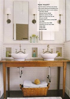 awesome bathroom renovation.  love the horizontal beadboard!