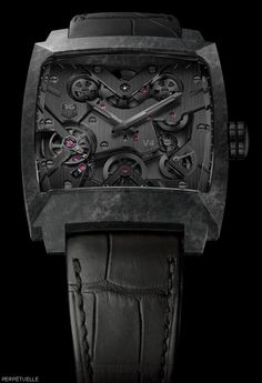 TAG Heuer Monaco V4 Phantom Carbon Fiber - Perpetuelle | Raddest Men's Fashion Looks On The Internet: http://www.raddestlooks.org