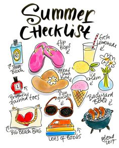 Summer Checklist! Are you ready? By Blond-Amsterdam Blond Amsterdam, Amsterdam Art, Doodle Inspiration, Bullet Journal Inspiration, Album, Handlettering, Summer Vacation Quotes, Netherlands, Summer Drawings