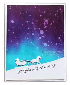 Understand Blue: But What About the Soul? - Stampin' Up! - SU - Sleigh Ride edgelits, Jingle All the Way stamp set