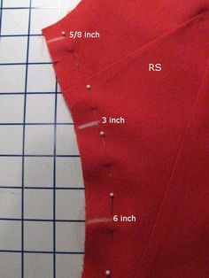 Adjusting side seams:The three inch rule