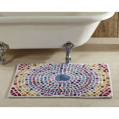 Picasso Mosaic Bath Rug by Better Trends