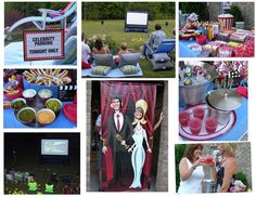 Outdoor Movie Night Party...for when i have a yard. I love themed stuff.