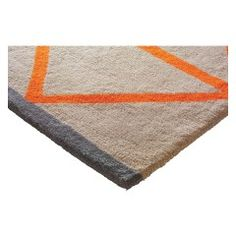 Bright and bold, Grid small geometric patterned rug has a soft wool pile and features taupe with contrasting orange grid lines and a bold grey border. Available in other colour ways and sizes. Living Room Orange, Cheap Rugs, Orange Rugs, Cheap Carpet Runners, Kitchen Carpet, Living Room Carpet, Carpet Cleaners, Small Rugs, Soft Furnishings