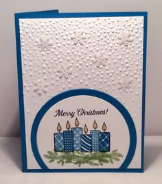 SC672 Christmas Candles by snowmanqueen - Cards and Paper Crafts at Splitcoaststampers