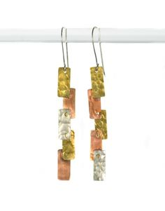 Mondrian Mixed Metal Earrings by Made By Survivors