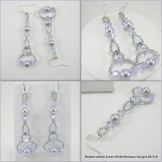 Custom made Bridal party earrings made in Wedding Theme colors