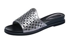 Passionow Women's Casual Rhinestone Decorate Flat Leather Female Summer Sandals ** More info could be found at the image url.
