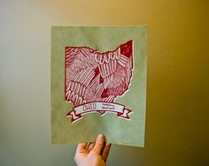 Ohio print by Kelsey Oseid, Minneapolis, MN