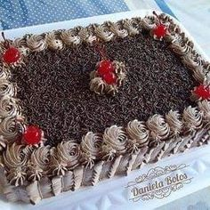 Chocolate Cake Designs, Chocolate Decorations, Chocolate Icing, Cake Decorating Techniques, Cake Decorating Tips, Cookie Decorating, Beautiful Cakes, Amazing Cakes, Rectangle Cake