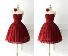 Red Ball Gown Prom Dress,Quinceañera Gowns,Sweet 15,16 Dress For Girls,Party Dresses Short Length