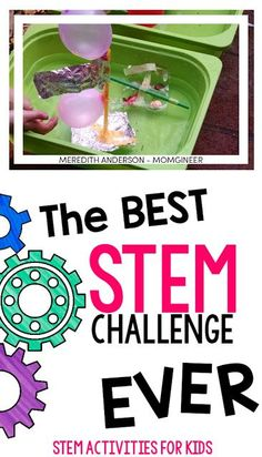 The Best STEM Challenge EVER! Design and create a cargo ship with the engineering design process. Build a boat and test it out while learning about density, buoyancy, and Archimedes' Principle. Read the post for 8 more amazing STEM challenges!   Meredith Anderson - Momgineer
