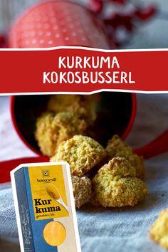 Der Klassiker unter den selbstgemachten Keksen, neu erfunden! Herrlich!! #kurkuma #plätzchen #kekse #sonnentor #weihnachtsbäckerei #weihnachtspätzchen #weihnachtskekse #rezept #backen #naschen #kokosbusserl #kokos #rezeptidee #advent #adventsbäckerei