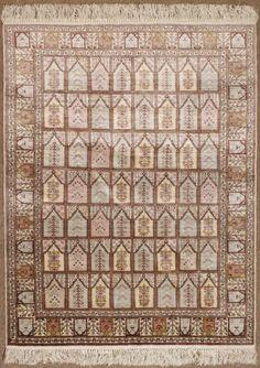 Teppich, Kayseri, Türkei, Naturseide auf Seide, 147x99cm