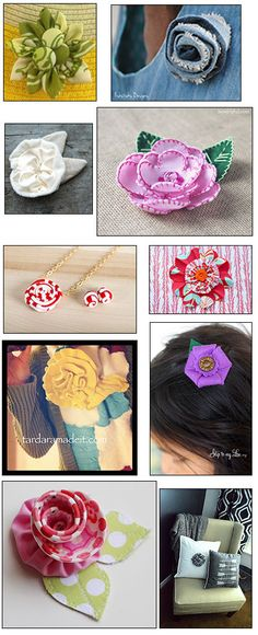 Project created by Bloggers on the Indygo Junction's Fabric Flowers book tour