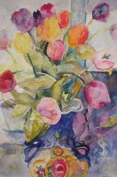 watercolor tulips by Kay Smith