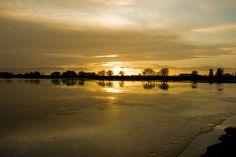 Saltholme Ice Sunset