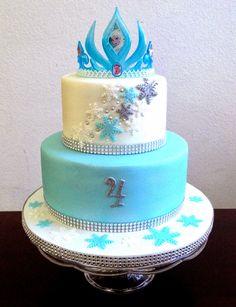 Cake Talk: Elsa Crown http://caketalkblogger.blogspot.com/2014/08/elsa-crown-cake.html