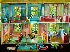 oil painting of dollhouse                                                                                     http://mamfa.com/wp-content/uploads/tin_dollhouse.jpg