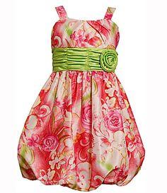 Bonnie Jean 716 and Plus Size BubbleHem Shantung Dress #Dillards